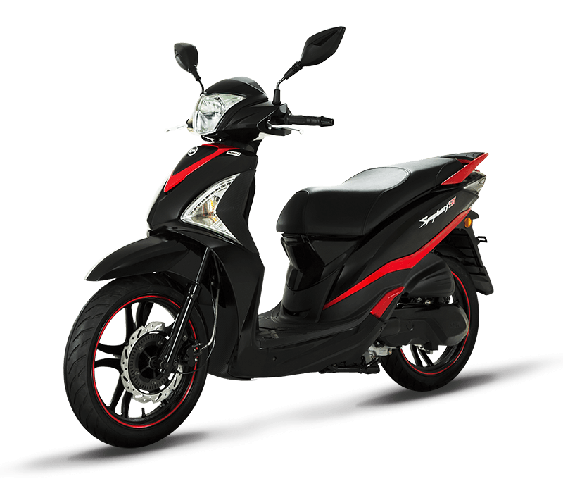 Symphony ST 200i Fuel Injected Scooter | Black/Red