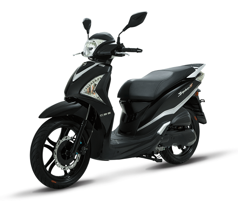 Symphony ST 200i Fuel Injected Scooter | Black/Silver