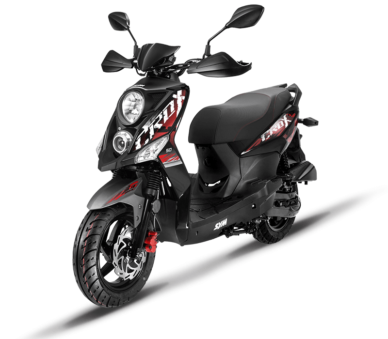 CROX 125i Sporty 125cc Scooters | Color : Black/Mat Grey