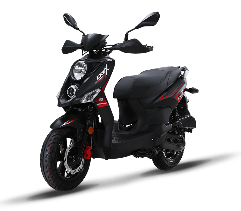 CROX 125i Sporty 125cc Scooters | Color : Mat Black