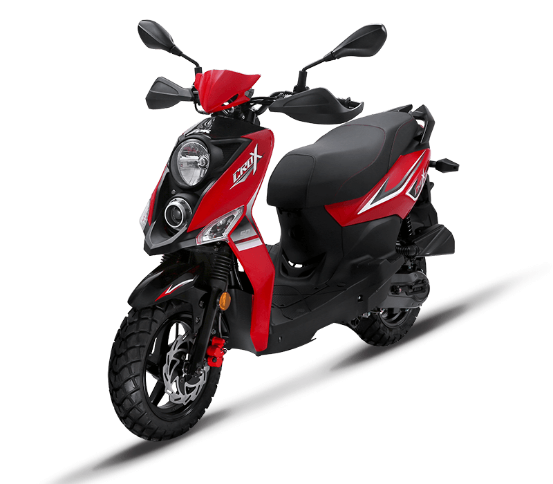 CROX 125i Sporty 125cc Scooters | Color : Red/Black