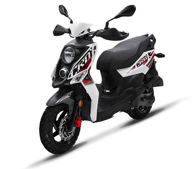 CROX 125i Sporty 125cc Scooters | Color : White/Mat Grey