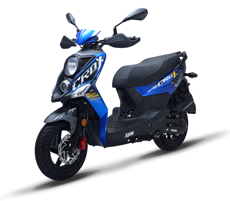 CROX 125i Sporty 125cc Scooters | Color : Blue/Mat Grey