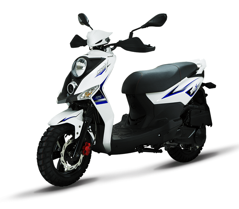 CROX 125i Sporty 125cc Scooters | Color : White