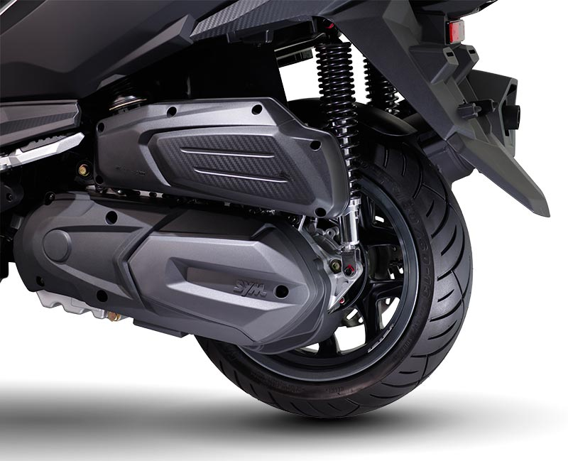 Upgraded Rr. Suspension Mechanism and Wheel enhance handling stability when riding on curve and uneven surface road.