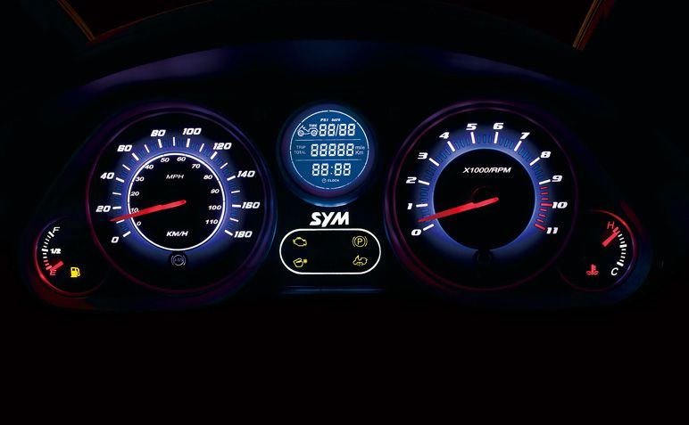 Multiple LCD speedometer