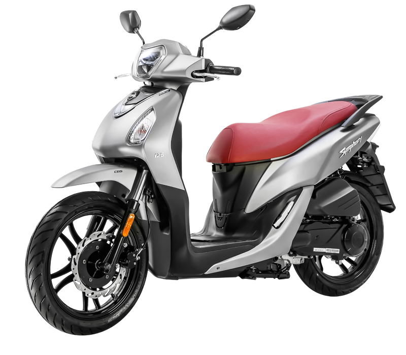 SYMPHONY 125 Scooter - Mat Grey/Red Seat